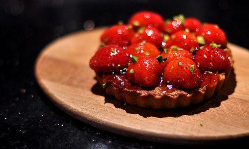 Frisk, lækker jordbærtærte